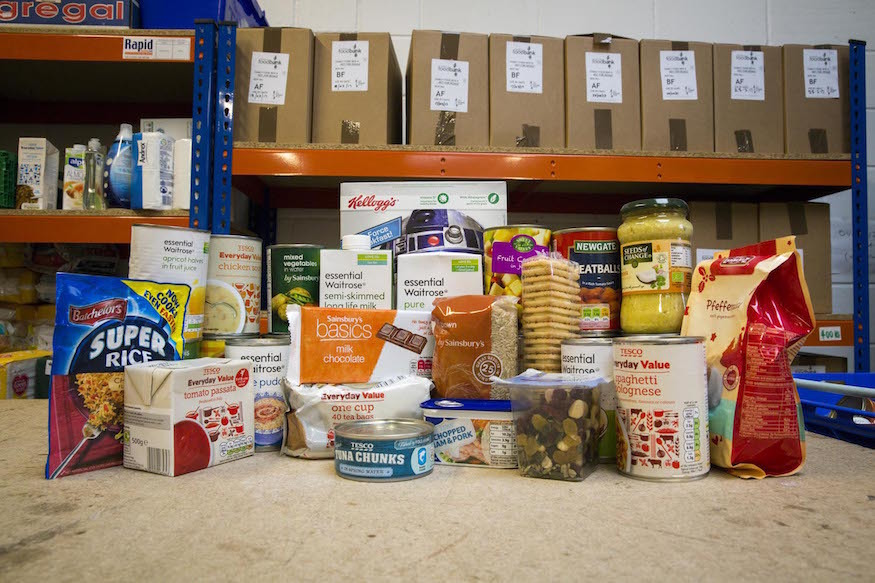 Items commonly donated to food banks
