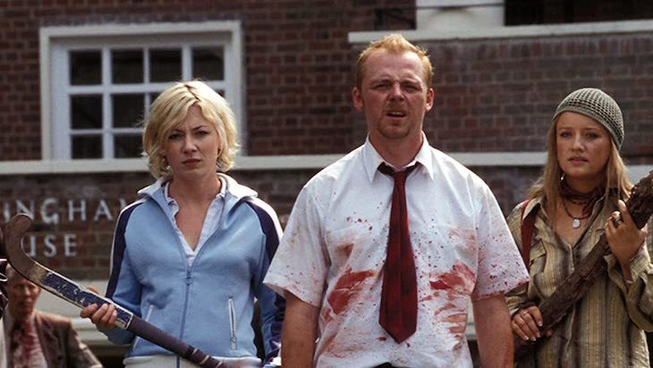 Shaun of the Dead, rent it on Amazon Prime to see a zombie-run London