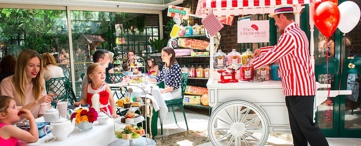 Sweet-toothed Londoners will love this unusual sweet shop themed afternoon tea