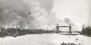 Incredible, Rare Images Released Of London's Docks During The Blitz