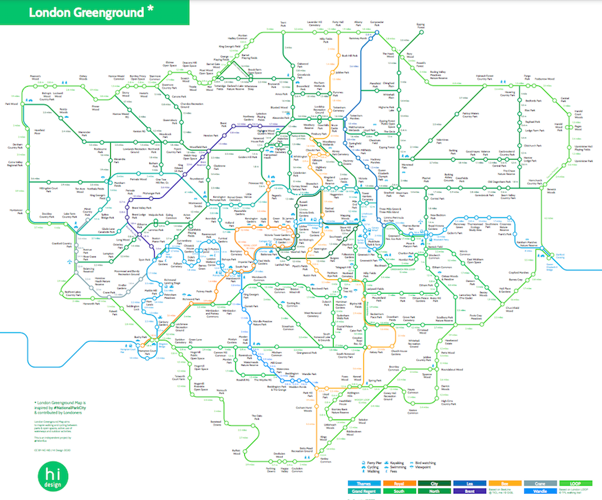 Greenground tube map