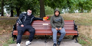 Londoners Sit On Park Bench, Tell Photographer How Covid Has Affected Them