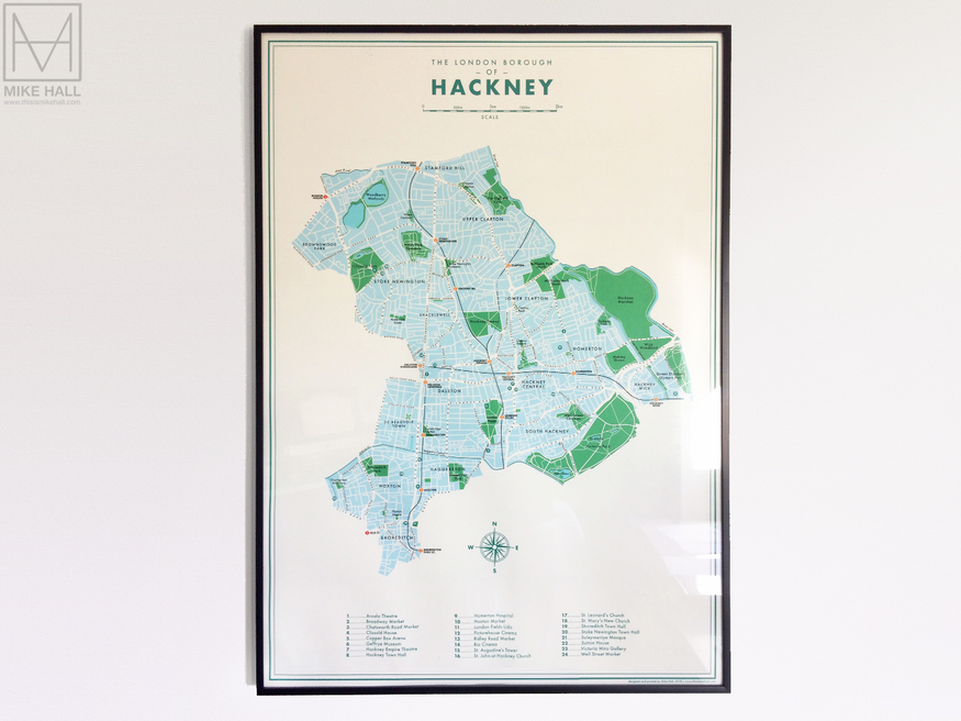 Map of Hackney