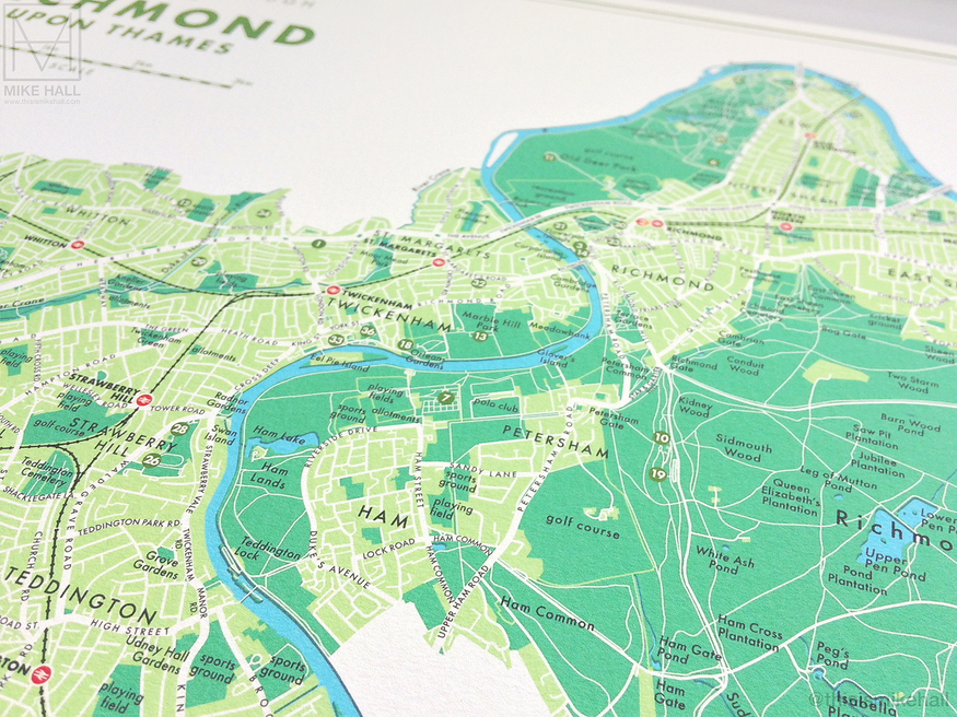 Map of Richmond by Mike Hall