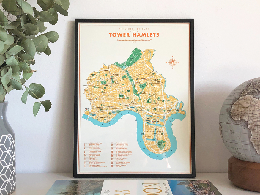 Map of Tower Hamlets by Mike Hall