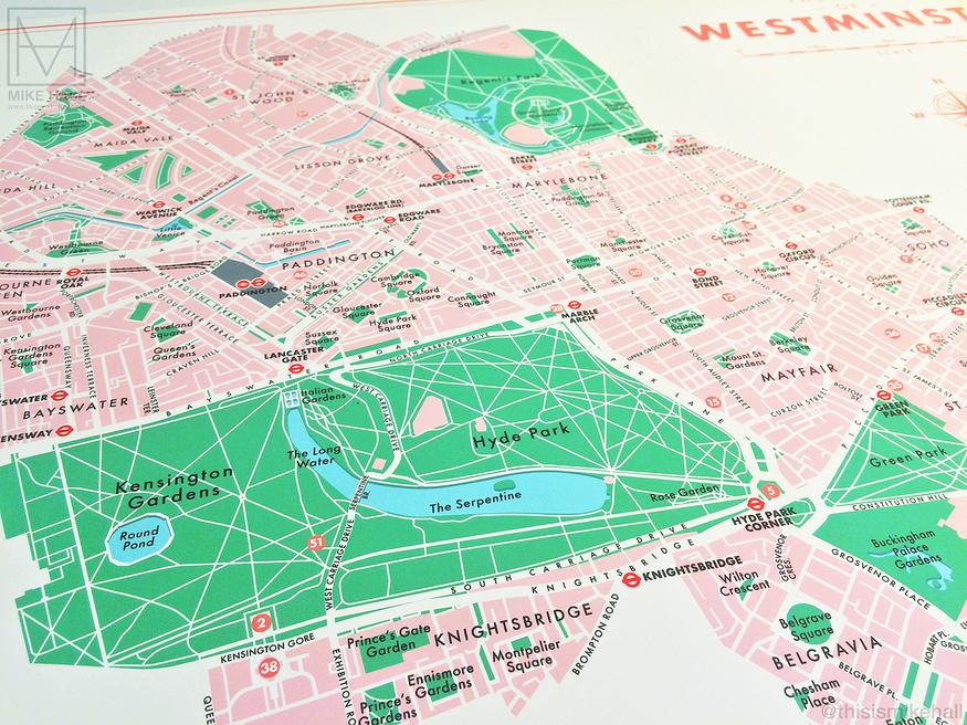 Map of central London by Mike Hall