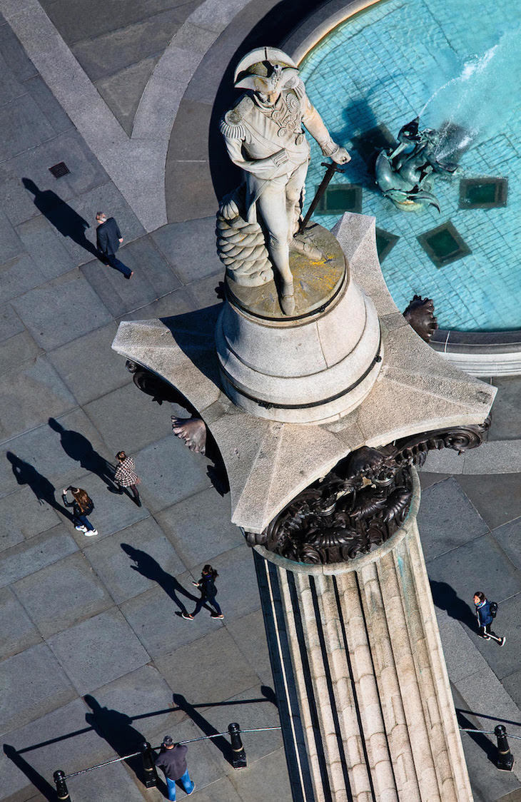 Nelson's column from above