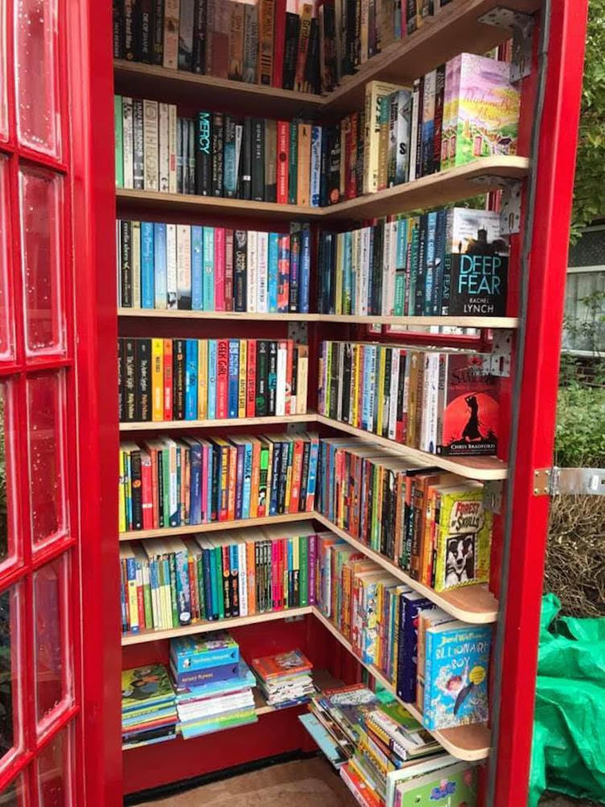 A bookswap in a phone box