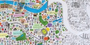 Colour In This Exquisitely-Detailed Hand-Drawn Map Of London