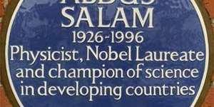 Physicist Abdus Salam Receives A Blue Plaque In Putney
