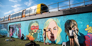 Female Street Artists Take Over Brixton Village Courtyard This March