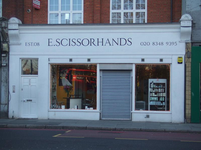 E Scissorhands barbers
