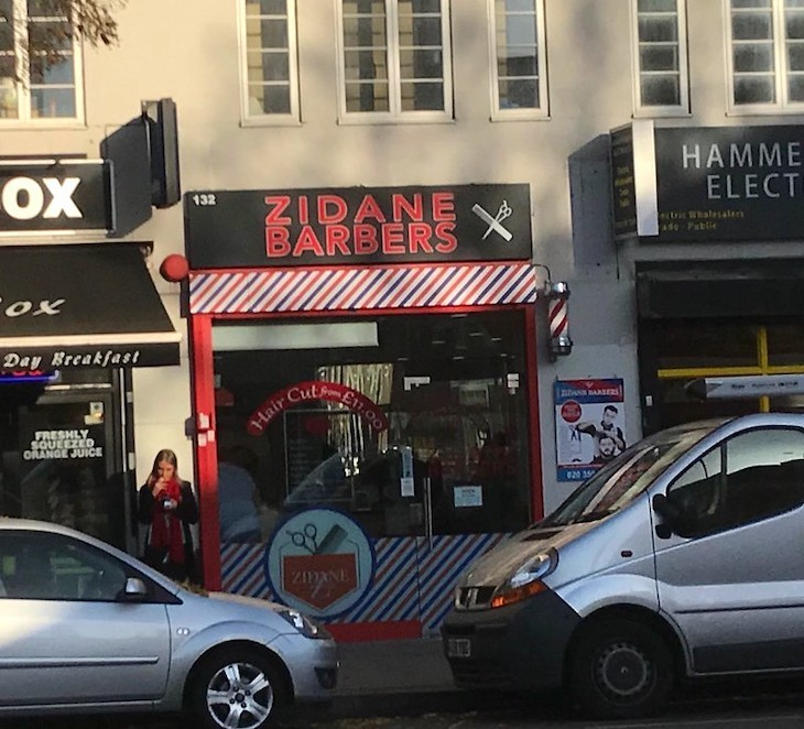 A hairdressers named after Zidane.