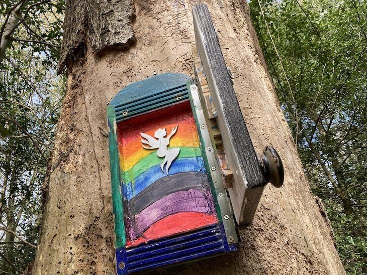 A rainbow fairy door