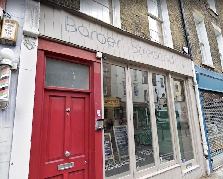 Barber Streisand in Exmouth Market