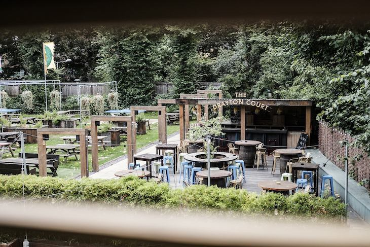 Beer garden at Drayton Court Hotel - supposedly London's largest.