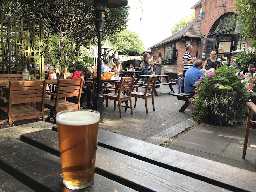Duke of Sussex beer garden.