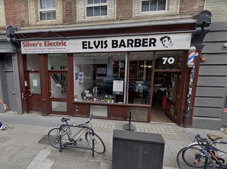 The Elvis Barber on Commercial Street