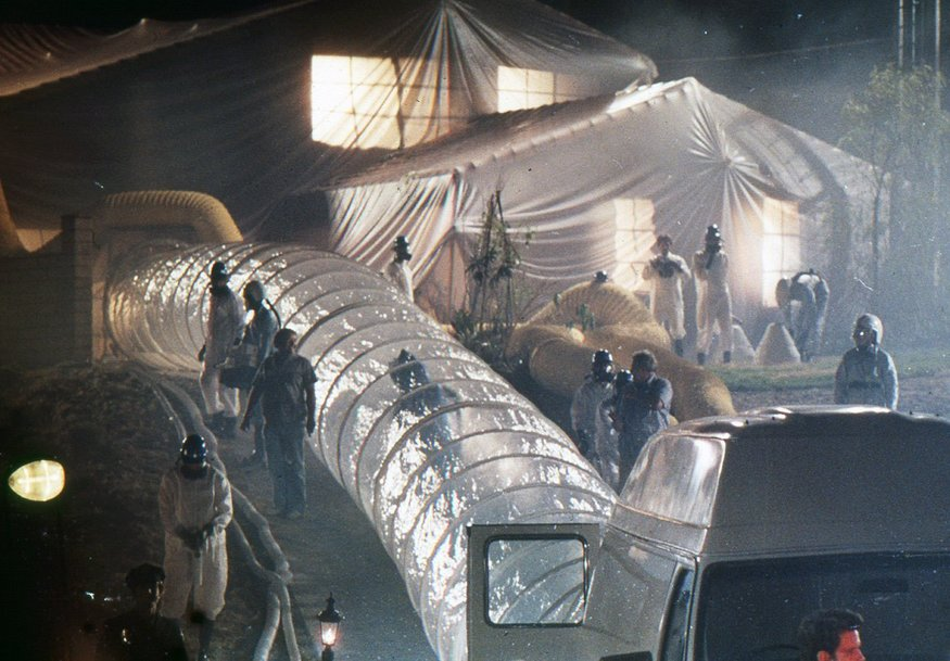 The military field hospital from E.T. Looks a bit like Tower Gateway.