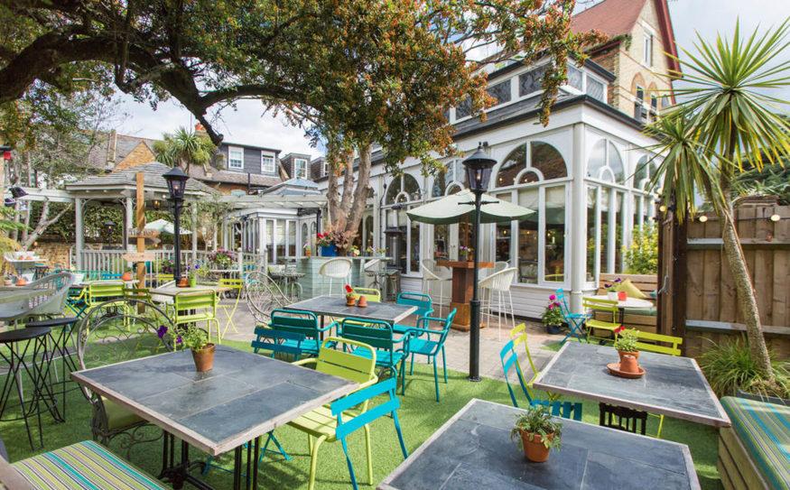 The Grange's fancy beer garden.