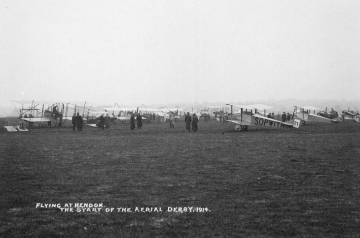 The start of the Aerial derby, 1914