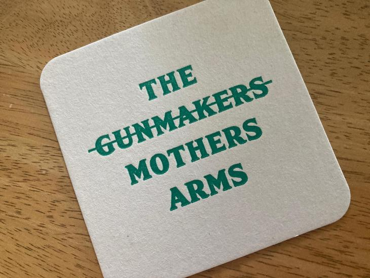 A Mothers Arms beer mat