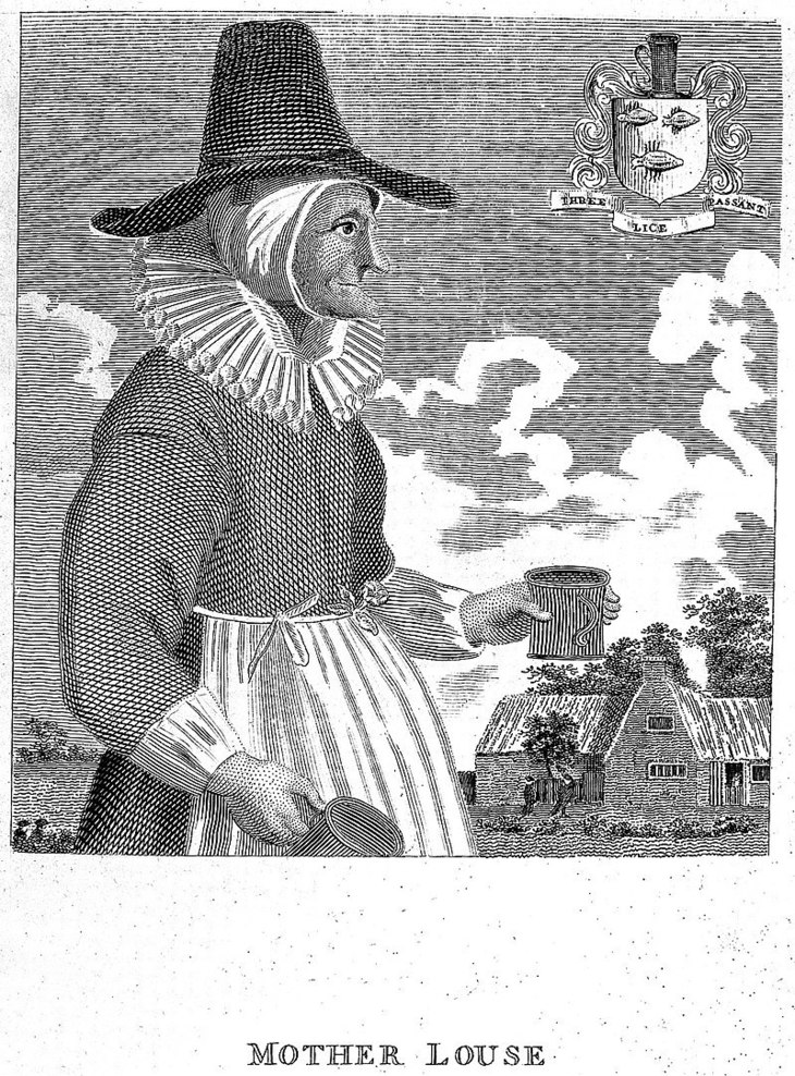 Mother Louse, a notorious alewife in Oxford during the mid 17th century