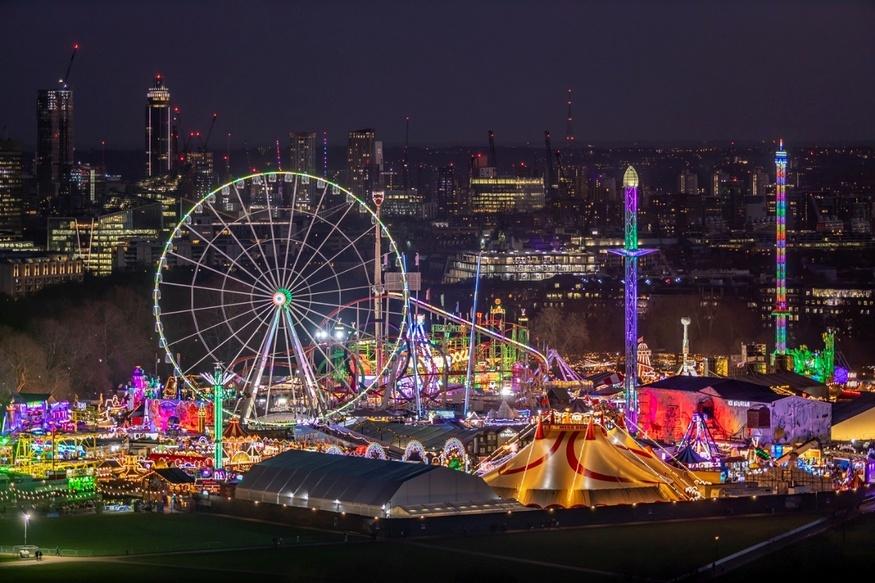 The big wheel and glitzy lights of Winter Wonderland