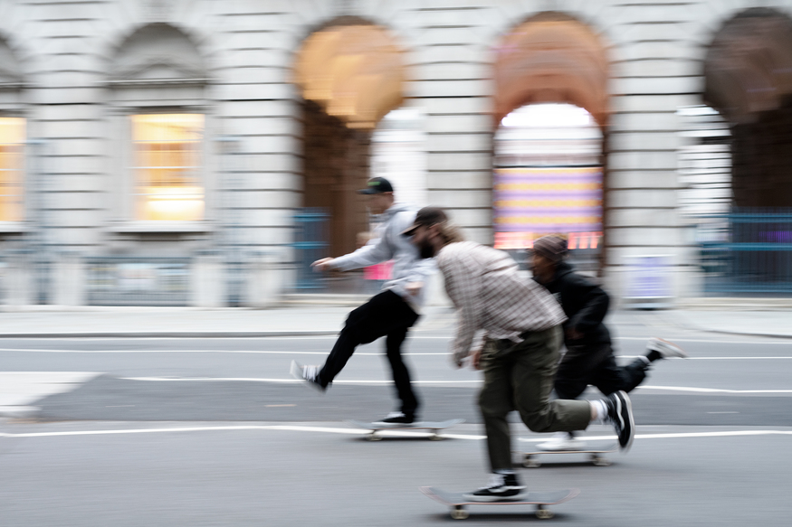 Skaters on the Strand