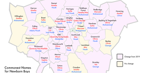 What's The Commonest Baby Name In Your London Borough? 2020 Stats Revealed