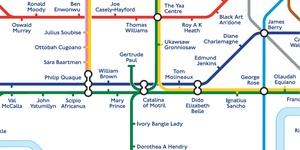 A Black History Tube Map