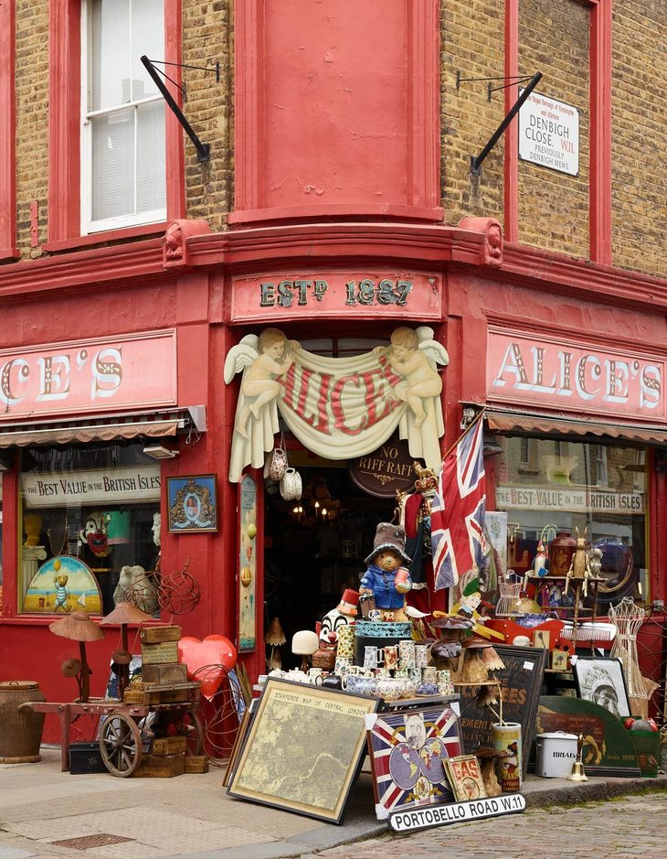 the cluttered frontage of alice's