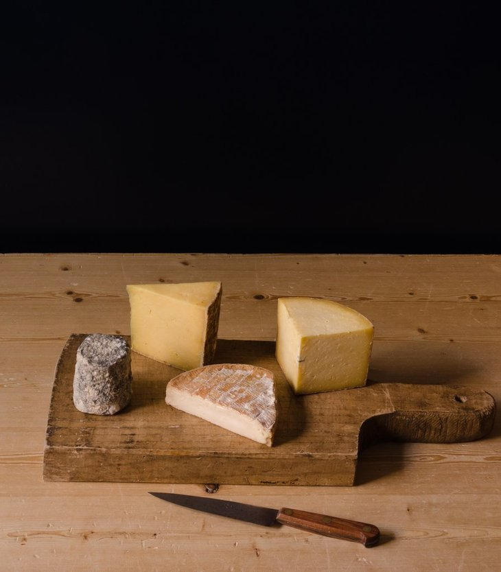 a board of cheese from neals yard