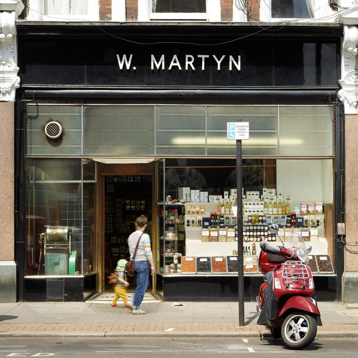 the facade of w martyn grocers